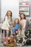 Three cute girls Royalty Free Stock Photography