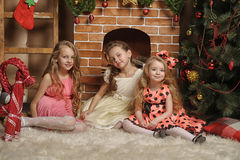 Three cute girls Royalty Free Stock Image