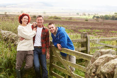 Three adults in countryside Stock Photos