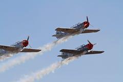 Three Aerobatic Aircraft Royalty Free Stock Images
