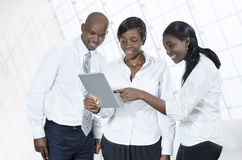 Three african business people with tablet PC Royalty Free Stock Photos