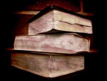 Three aged books Royalty Free Stock Photos