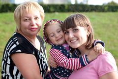 Three ages of woman. Stock Photo