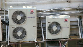 Three air condition units stock video