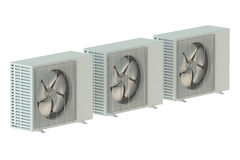 Three air conditioner units Stock Images