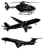 Three aircraft Stock Images
