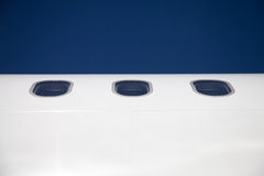 Three aircraft window Stock Photo