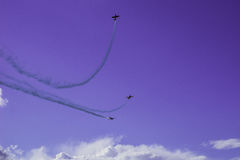 Three   Aircrafts  in  the  sky Stock Photography