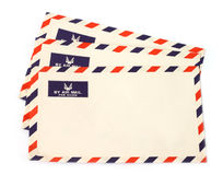 Three airmail envelopes Stock Photography