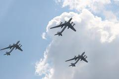 Three airplanes stock photos