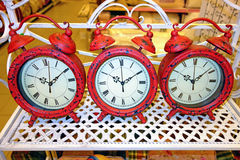 Three alarms Royalty Free Stock Images