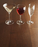 Three Alcoholic Drinks Stock Images