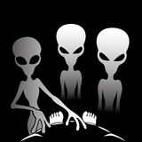 Three alien. Royalty Free Stock Photos