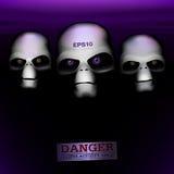 Three aliens Stock Photo