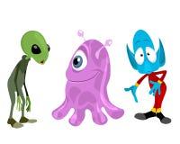 Three aliens set. Vector illustration of a three aliens set Royalty Free Stock Photos