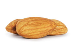 Three almond nuts Royalty Free Stock Photography