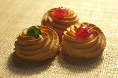 Three almond pastries Royalty Free Stock Photo