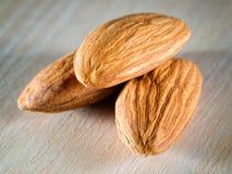 Three almonds Royalty Free Stock Image