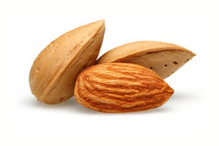 Three Almonds Royalty Free Stock Photography