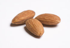 Three Almonds Close Up Royalty Free Stock Photo