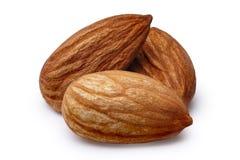 Three almonds isolated Stock Photos