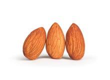 Three almonds Royalty Free Stock Photos