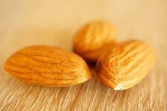 Three almonds Stock Photography