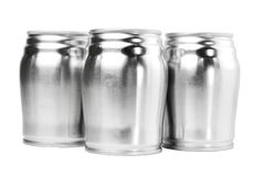 Three Aluminum  can Royalty Free Stock Photography