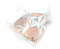 Three aluminum foil bag packages Royalty Free Stock Photo