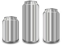 Three aluminum jar Stock Photo