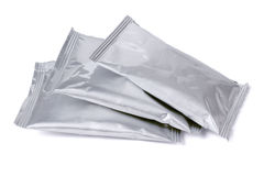 Three Aluminum Sachets Stock Image