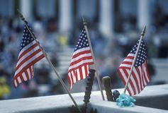 Three American Flags, Arlington National Cemetery, Washington, D.C. Stock Images