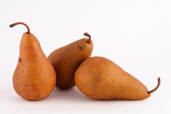 Three Amigo Pears stock photo
