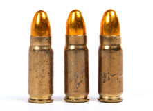 Three ammunition for firearms Royalty Free Stock Images