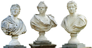 Three ancient busts Royalty Free Stock Images
