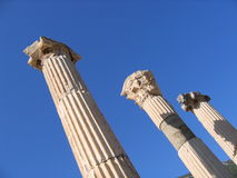 Three Ancient Columns - Ephesus Royalty Free Stock Photo