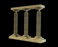 Three ancient columns of marble Stock Photography