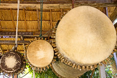 Three ancient drum Royalty Free Stock Images