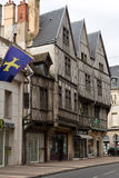 Three ancient half-timbered houses in Dijon Royalty Free Stock Photos