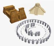 Three Ancient Religions Royalty Free Stock Photos