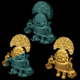 Three ancient statue deity clean and dirty Royalty Free Stock Image