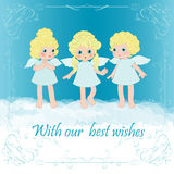 Three angel Royalty Free Stock Images