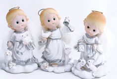 Three angels Stock Photo