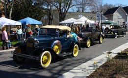Three Antique cars Stock Photos