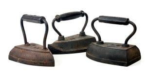Three Antique Irons Stock Photos