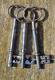 Three Antique Keys Stock Images
