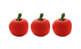 Three apple doll from clay Royalty Free Stock Photo