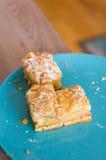 Three apple pie pieces Stock Image