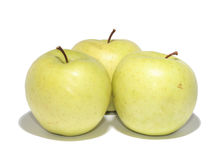 Three apples Stock Photos