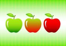 Three apples Stock Photos